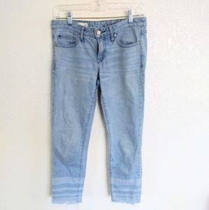 [ GAP light wash fringe botrom size 26 jeans ]
